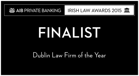 Dublin Law Firm of the Year Finalist Law Awards 2015