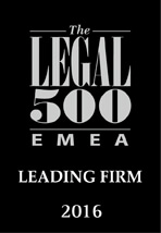 Legal 500 Awards Leading Firm