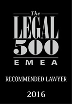 Recommended Lawyer Legal 500 EMEA