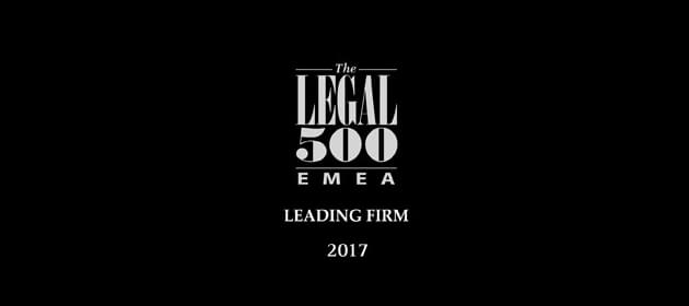 Legal 500 2017 award Logo