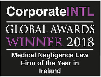 Global Awards 2018 - Medical Negligence Law Firm of the Year in Ireland