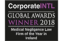corporateINTL Awards Winner 2018 Medical Negligence Law Firm