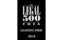 legal 500 EMEA leading firm 2018