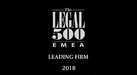 legal500 EMEA leading firm award 2018